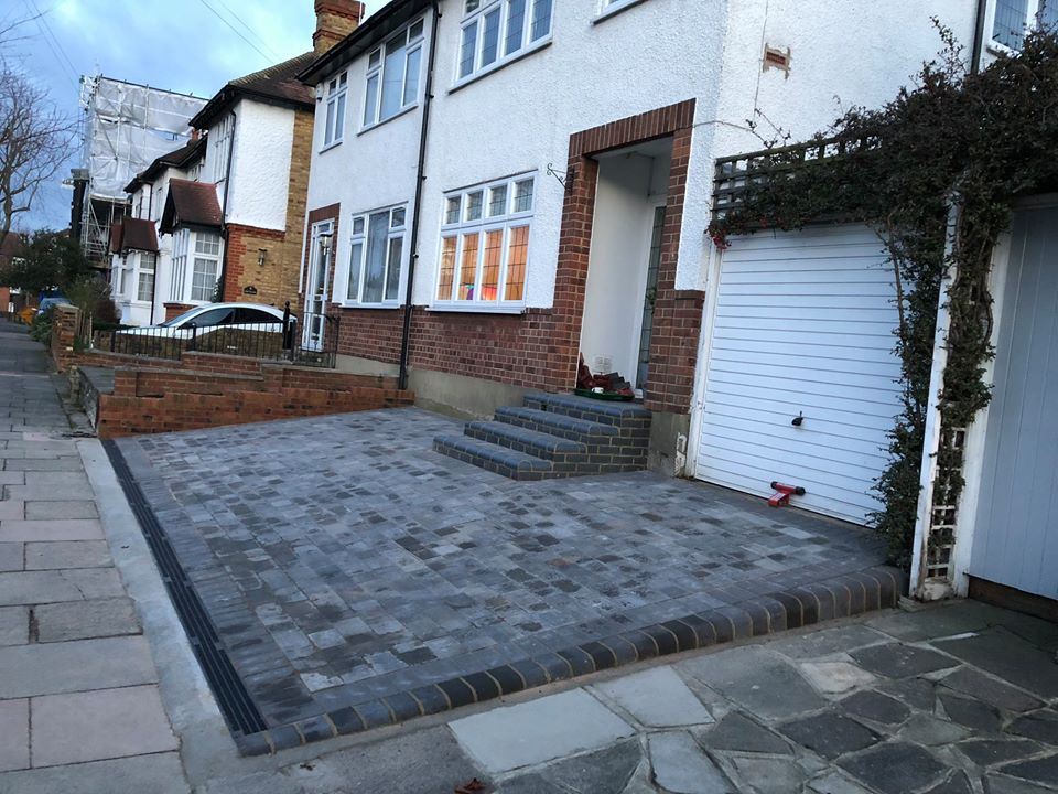 Build a driveway with style while your neighbours watch